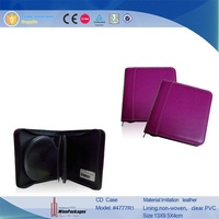 Fashion PVC Fabric CD Holder personalized cd case multi disc dvd cases