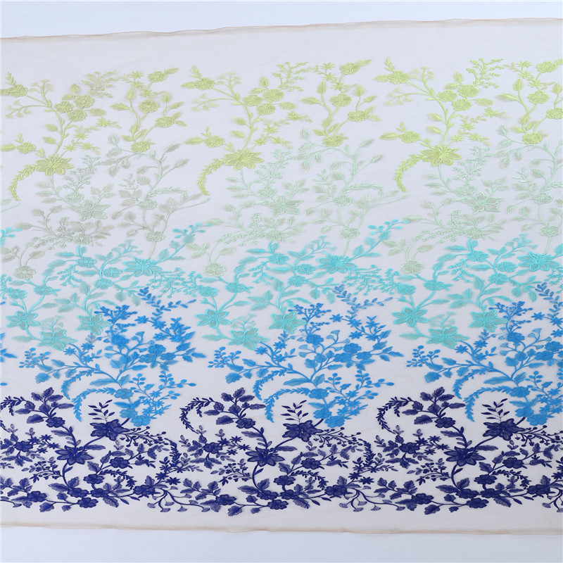 MX376 New fancy Three Color Embroidery colorful lace fabric 3d floral