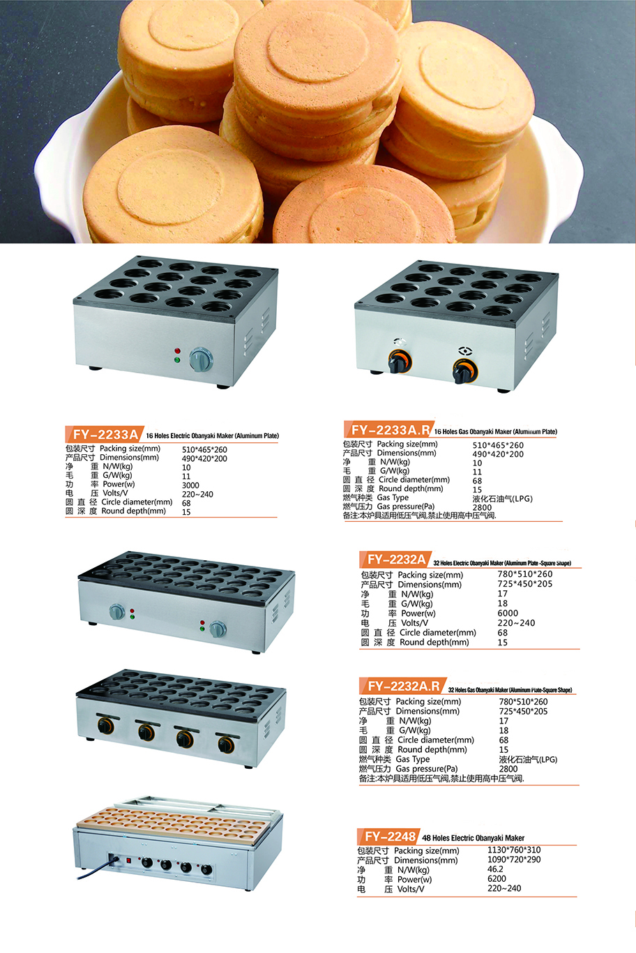 Aluminum Plate Square Shape 32 Holes Gas Obanyaki Maker Obanyaki Machine Nonstick Pan Baking Machine