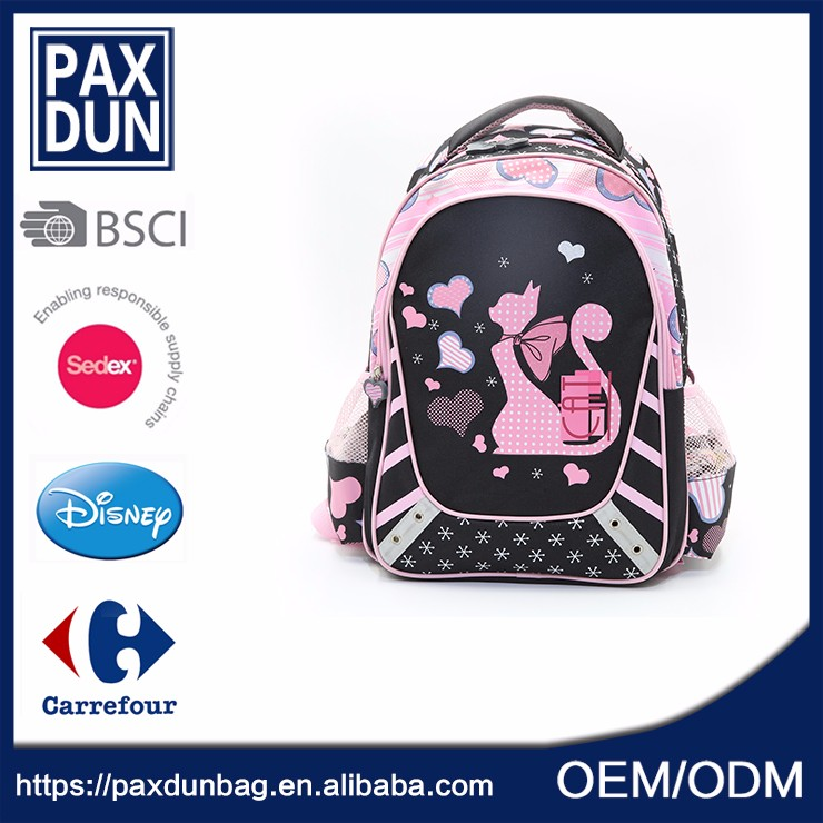 Polyester Customize Ad Mochilas School Bag For Girl