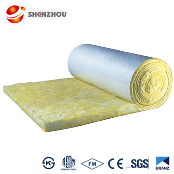 25kg/m3 Glass wool blanket/glass wool roll for steel structure building insulation