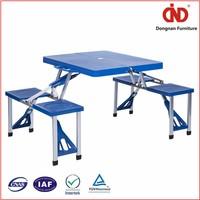 Manual metal Free sample plastic fold out table