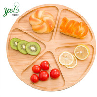 100% Eco friendly wooden bamboo plate dinner plate