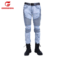 Hip Hop Distressed Ripped Washed Pants Jeans Slim