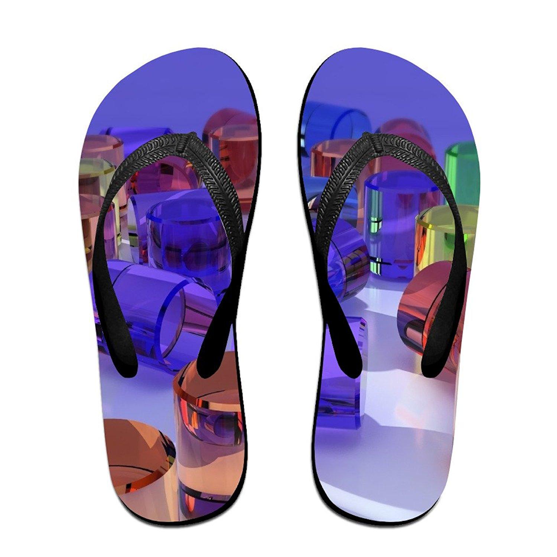 Jinqiaoguoji Customized Summer Figurines Glass Shape Womens Sandals Beach Sandals Pool Party Slippers Flip Flops