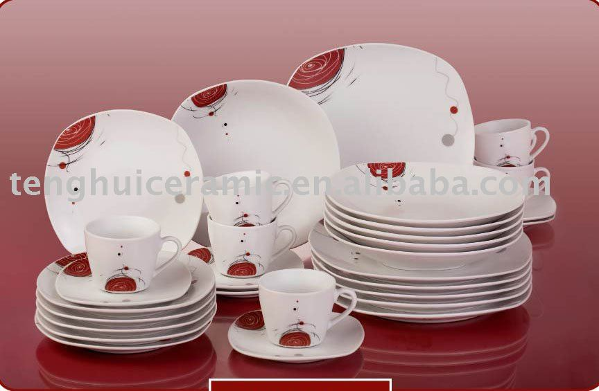 30pcs Square Porcelain Dinnerware Ceramic Dish Set Find China - Buy Porcelain DinnerwareDinner SetPorcelain Plate Product on Alibaba.com & 30pcs Square Porcelain Dinnerware Ceramic Dish Set Find China - Buy ...
