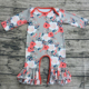 wholesale clothing kids fall boutique cute baby ruffle romper boutique girl romper floral baby long sleeve clothes for girls