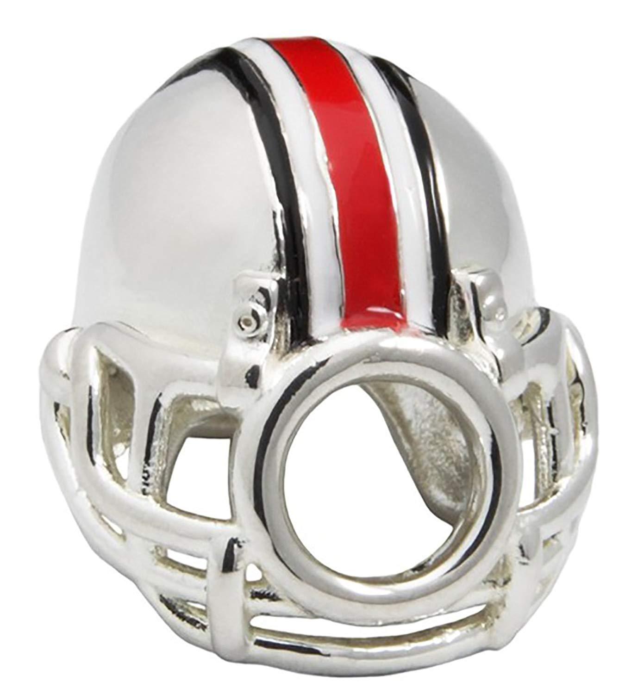 38a8a6227 Ohio State University Charm | OSU Buckeyes - Buckeyes Football Helmet Bead  Charm | Officially Licensed