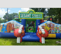 hot sale !sesame street inflatable bounce house for sale