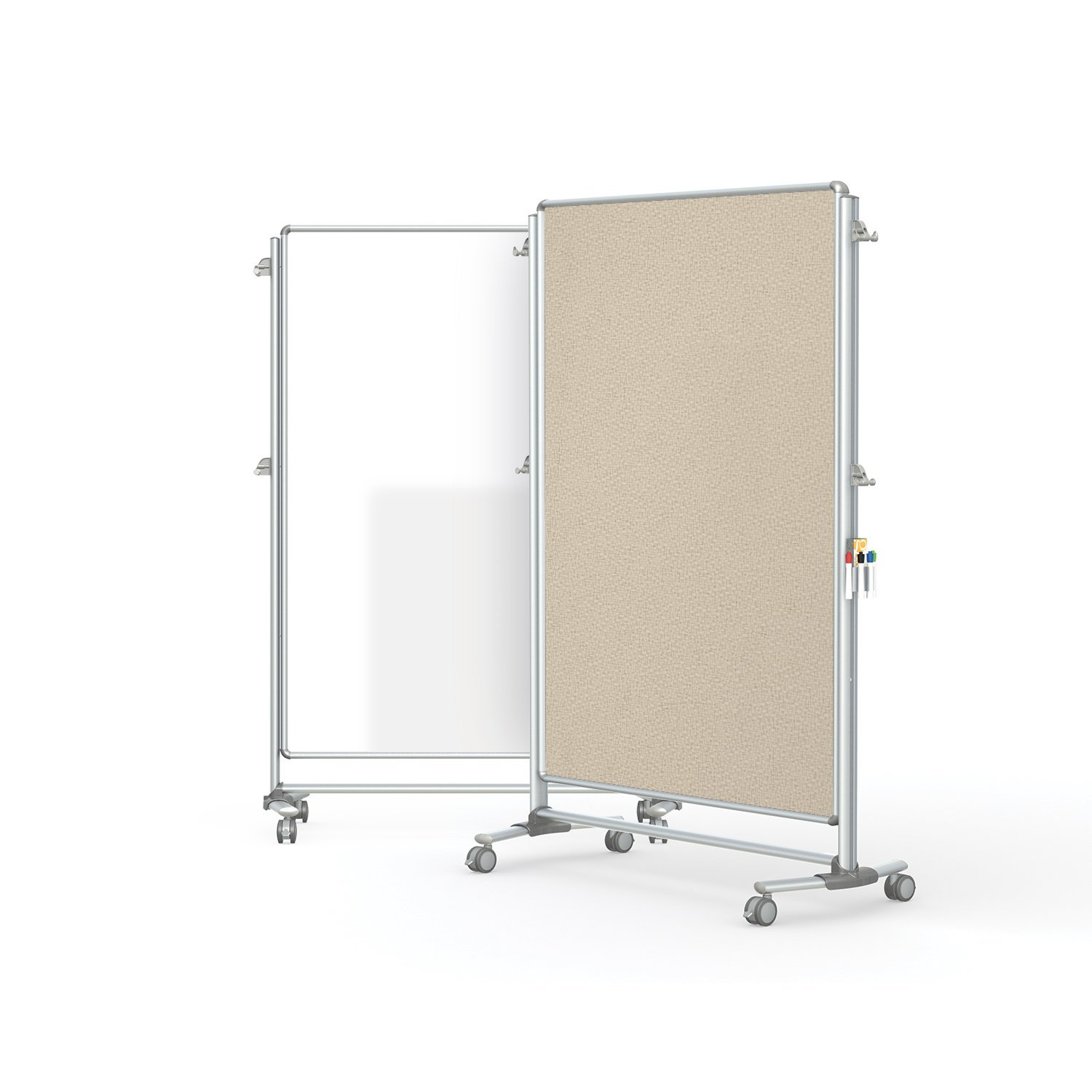"""Ghent 76-1/8"""" x 52-3/8"""" Nexus Partition, Magnetic Whiteboard/Bulletin Board, Double-Sided (NEX224MFP-90)"""