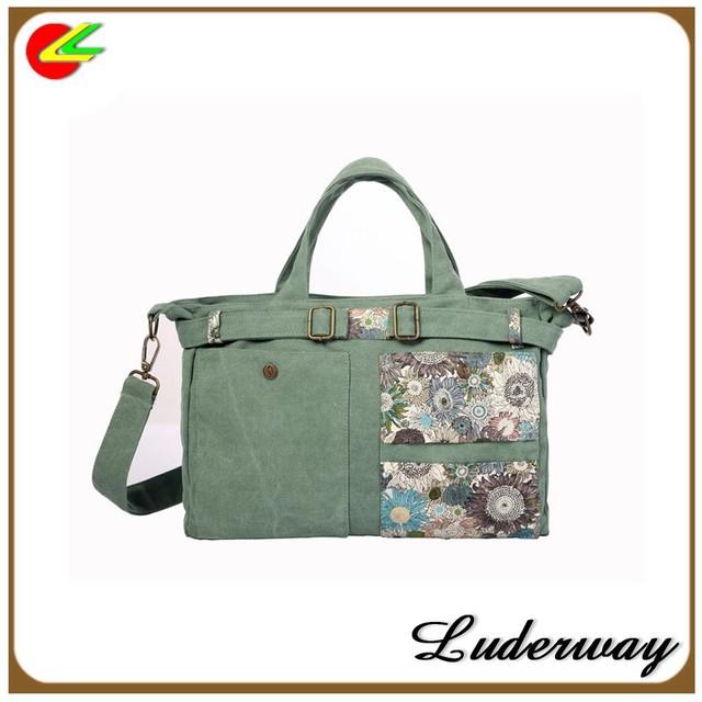 fcb9d61a948 2016 hot sale stylish lady canvas branded handbag with long strip shoulder
