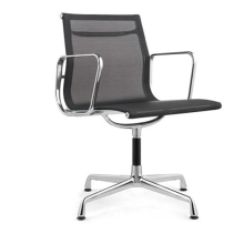 Mesh Office Swivel Chair No Wheels No Arms