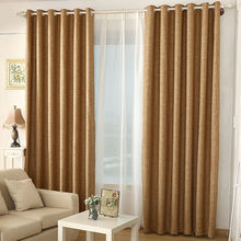 High quality modern life cotton linen fabric curtain and shutter