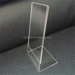 Acrylic A4 A5 L shaped countertop photo display stand