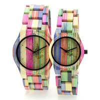 Wholesale high quality cheap handcraft couple wooden watch bamboo