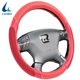 Factory supply comfortable PU leather polyester fabric pvc car steering wheel cover