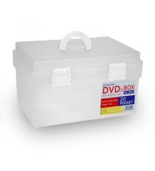CD DVD Plastic Container With Handle/CD DVD Plastic Storage Box With Cover