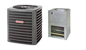 "Goodman 1.5 Ton 15 SEER Air Conditioner and Wall Mount Air Handler 5 KW GSX140191AWUF310516 - With 3/8""x3/4""x35' lineset"