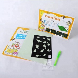 A4 Flash Luminescent Drawing Board Freeze Light PVC Drawing Cartoon Board