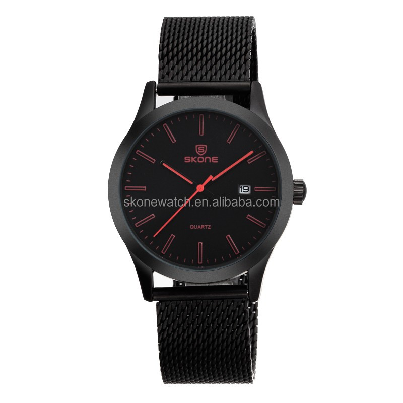 2017 NO 7345 Red Color Number Jewelry Custom Logo Watches