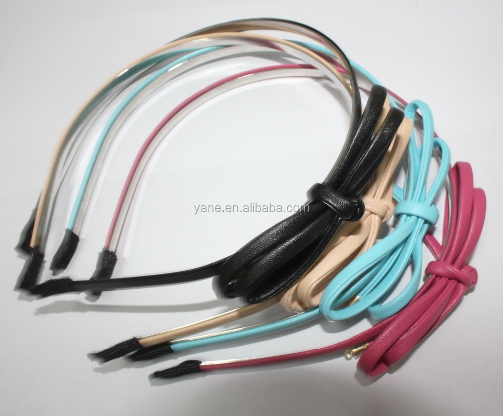 Factory Wholesale High Quality leather Bow Headband, Head band