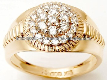 Diamond Latest Gold Rings Diamong Gents Wedding Engagement Jewellery
