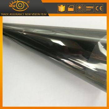 2mil 20 vlt reflective car solar window film silver black for 20 reflective window tint