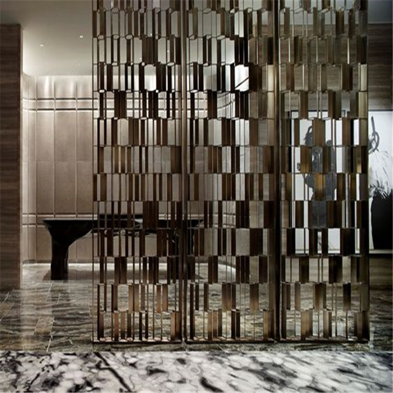 Hot Sale Interior Decorative Screen Partition Stainless Steel Wall Panel For Restaurant Room