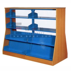Library Book Display Shelf Wooden Library Bookshelf Book Store Furniture