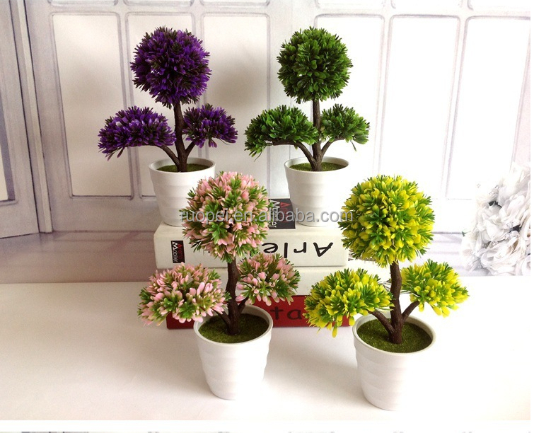 Wholesale Home Ornamental Small Artificial Topiary Plants Bonsai