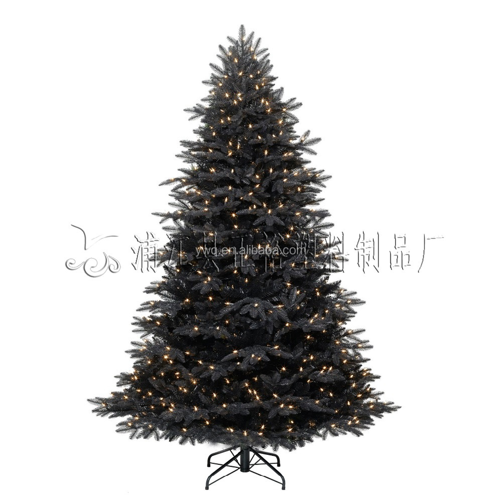 6' Pre-lit Black Led Christmas Tree Bearable Tree