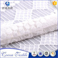 Latest China supply soft eco-friendly white lace fabric african embroidery