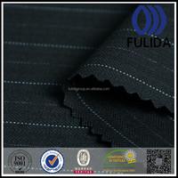 stretch stripe double yarn tr wool fabric for office uniform