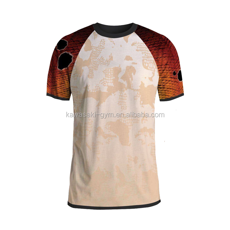 Custom school short sleeve wholesale sublimation printing fishing jersey