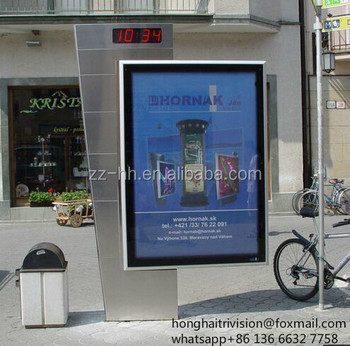 Outdoor Double Sided Scrolling Solar Advertisement Light Box