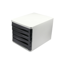office file storage A4 szie plastic drawer storage cabinets with 5 drwers