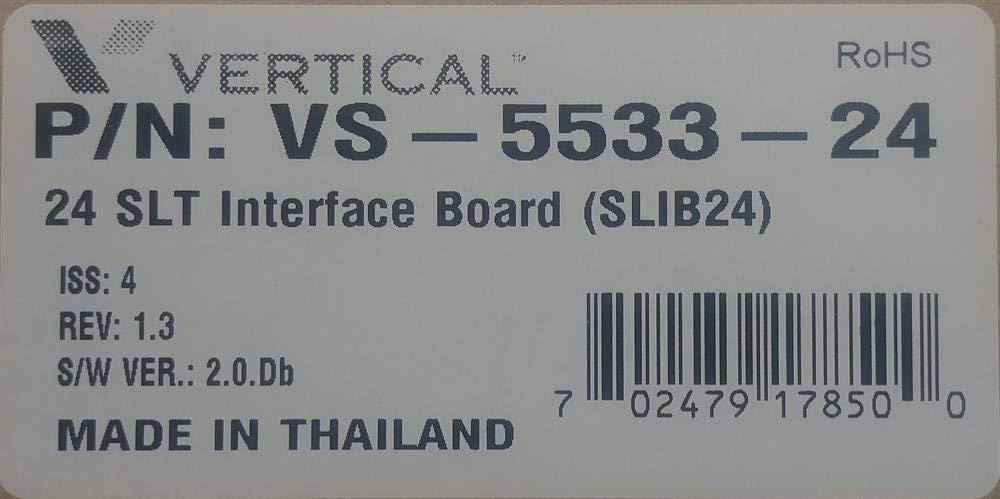 Vertical Communications New Summit-IP 800 SLIB24C VS-5533-24 24 Port Single Line (FXS) Station Circuit Card