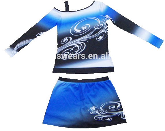 cc932ae68 Get Quotations · girls1 set cheerleader uniform Girls cheerleader costume  outfit sportwear long sleeve with skirt
