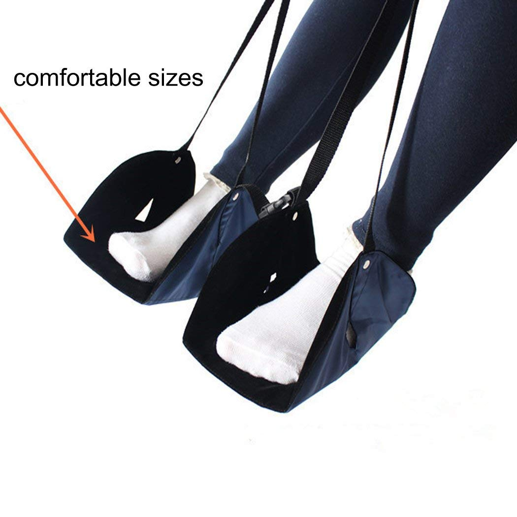 GGET Foot Rest, New-Type Portable Travel Footrest Flight Carry-on Foot Rest Office Bus Airplane Feet Rest Feet Hammock