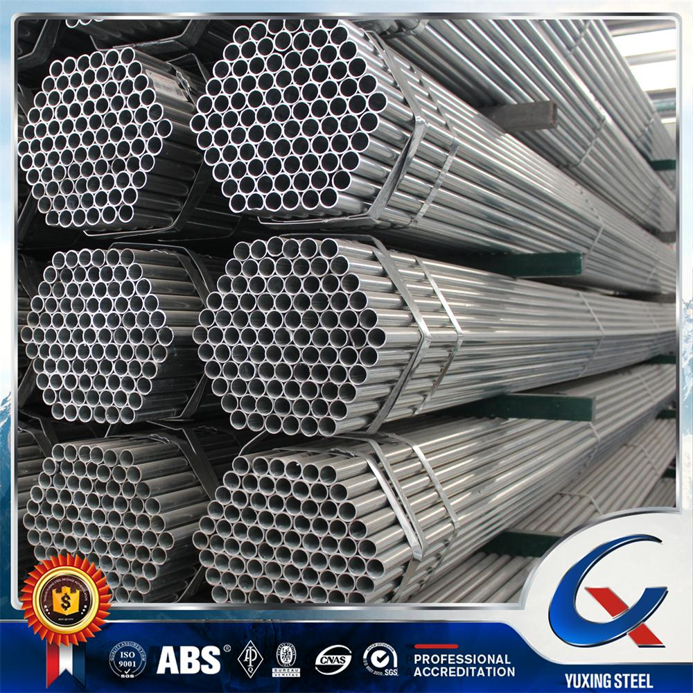 Q235 BS 1387 hot dip and pre galvanized round steel pipe