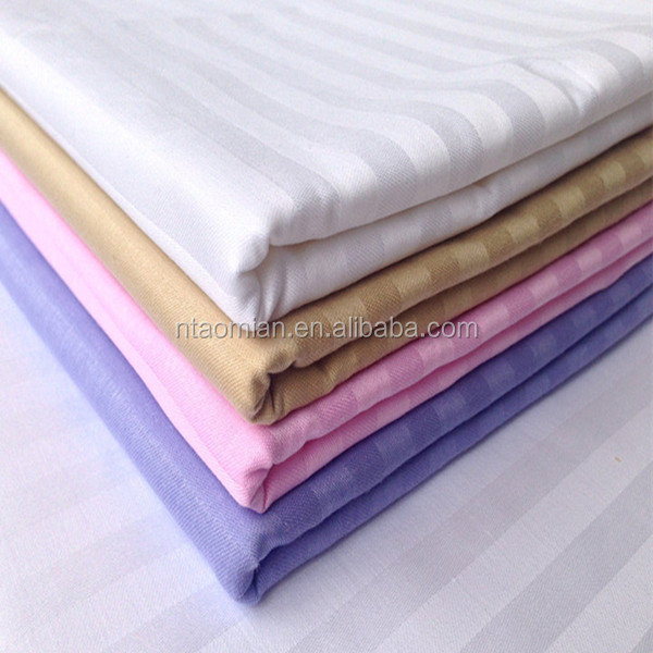 factory price t/c satin stripe dyed fabric wholesale