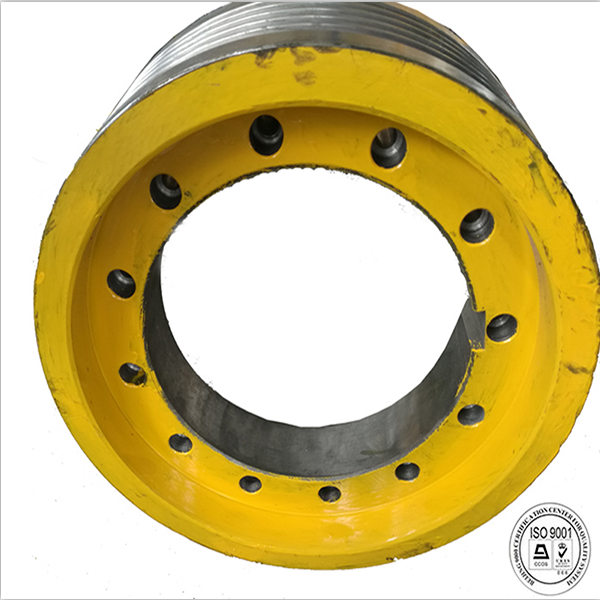 Run the safe and smooth power equipment,elevator traction wheel