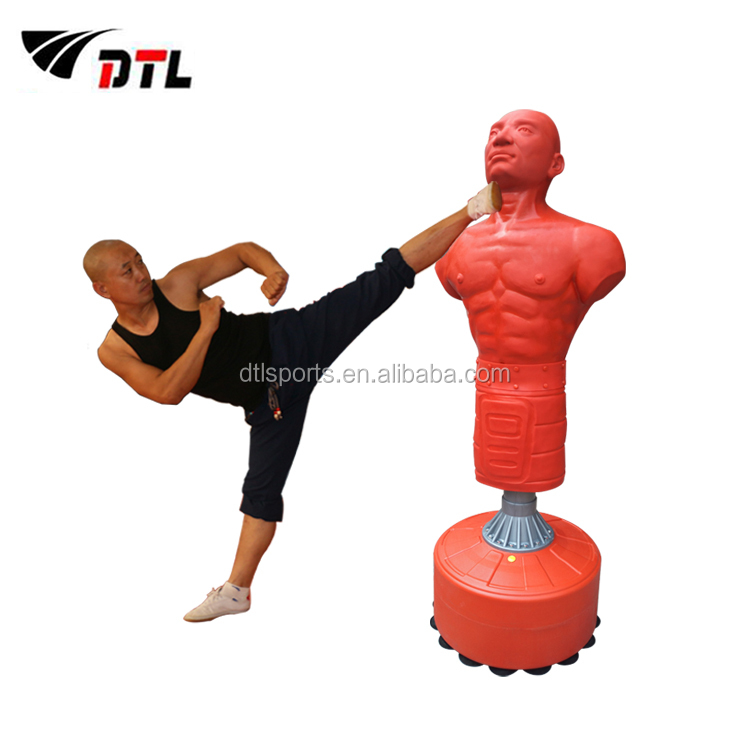 Cheap price green environmental production skin feeling professional training Standing Punch Bag- Body Shape