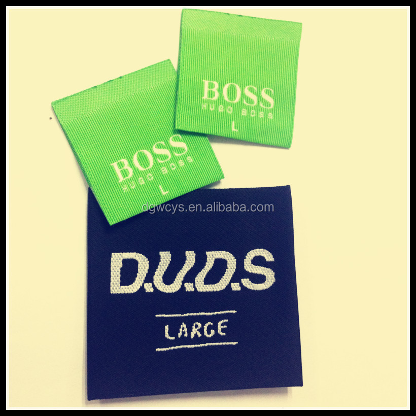 Famous brand custom woven label, woven badge for garment