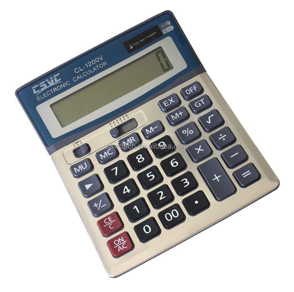 cheap 12 digits solar power general function office calculator