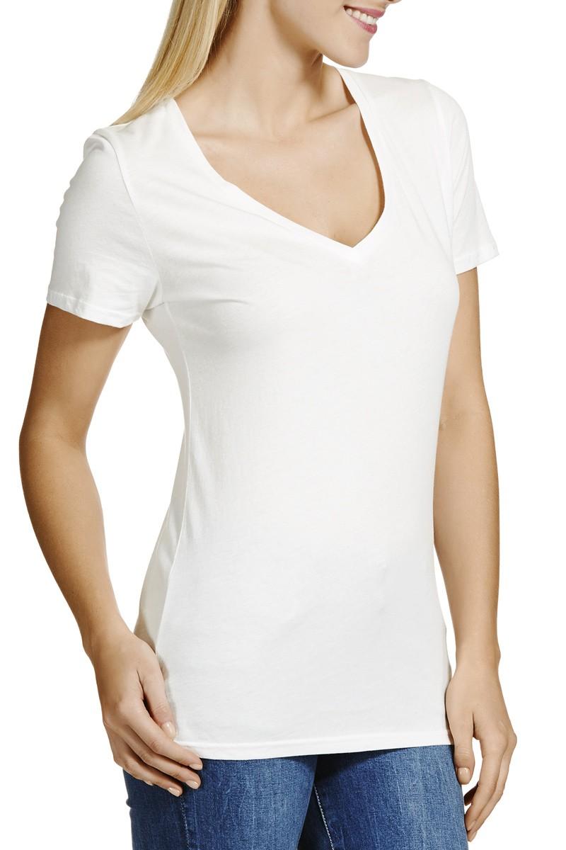 64080420c7008 Manga Corta Camisa Blanca Mujer Con Cuello En V - Buy Blanco Camisa ...