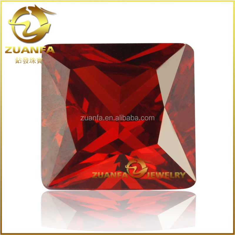 only supplier princess cut square garnet zirconias