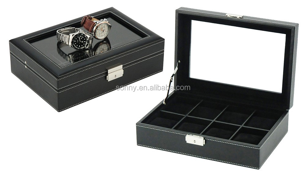Sonny Portable Travel Business Leather Watch Suitcase for Men