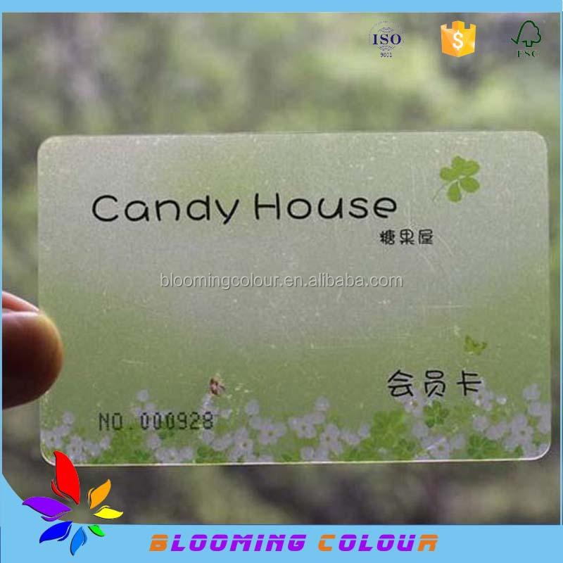 Factory Sale Clear Plastic Business Card/fashion Design Cheap ...