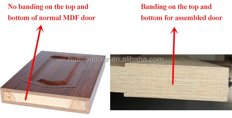 Solid mdf wooden glass panel pocket door
